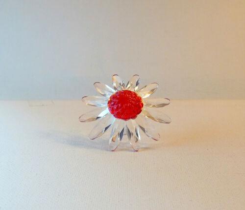 SWAROVSKI SCS Millennium Marguerite Daisy Red Flower Figurine / Décor w/Box