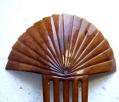 Victorian Wigs, Hair Pieces  | Victorian Hair Jewelry Art Deco hair comb faux tortoiseshell sunray style hair accessory $160.00 AT vintagedancer.com