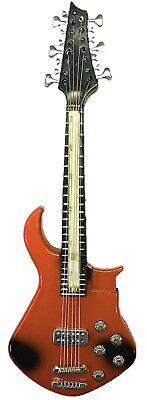 Novelty Orange Electric Base Guitar Lighter, Cigar Cigarette Lighter, - Guitar Novelties
