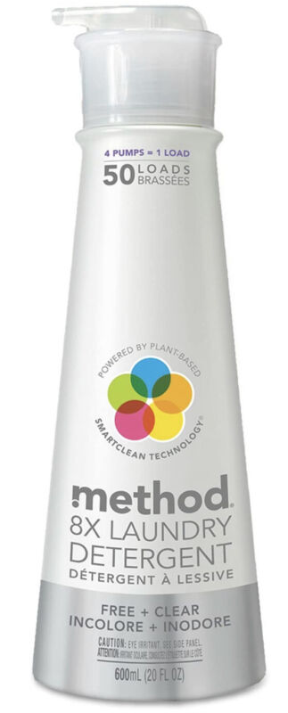 Method 01126 Laundry Detergent Free & Clear 20 oz Bottle