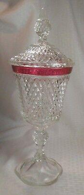 16 Candy Jars - Candy Dish Urn Jar Clear Glass 16