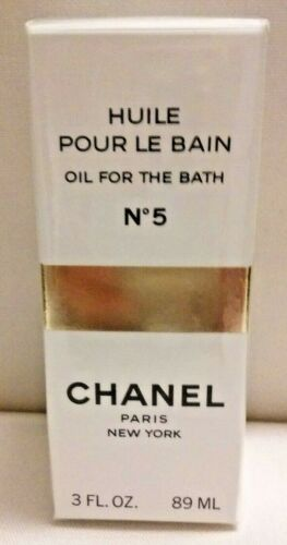 Sealed VINTAGE CHANEL No 5 OIL FOR THE BATH 3 oz  / 89 ml  BOX