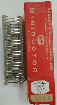 4.1 Uh Bw Miniductor 3014 Vintage Air Core Inductor 3 1 Dia 8 Tpi 16 Awg