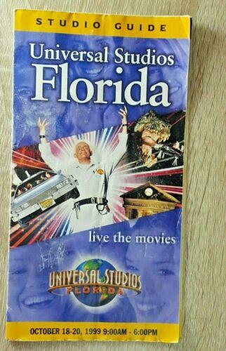 Vtg Universal Studios Florida Park Brochure 1999 Guide Pamphlet October 920cb3