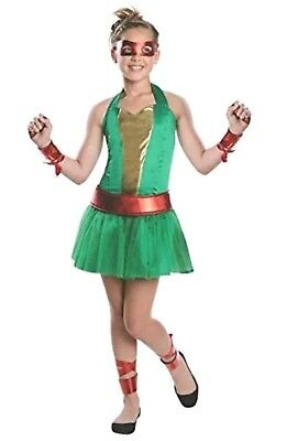 Teenage Mutant Ninja Turtles Animated Series Raphael Girls Costume Tween Small