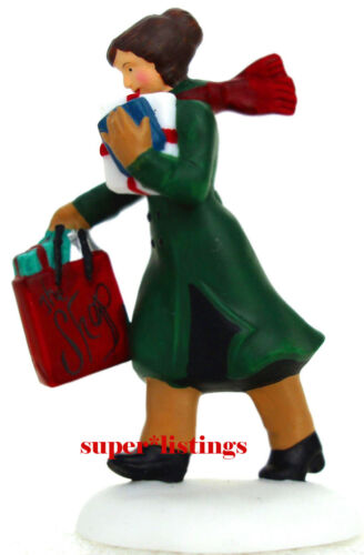 Dept. 56 Busy City Sidewalks Woman w. Shopping Bag Christmas in the City 58955