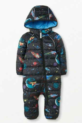 NEW Hanna Andersson INSULATED Outer Space Full Zip DOWN Snowsuit, Size 80 18-24m