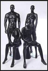 euroton mannequin abstrait de vitrine mat mannequin noir ebay