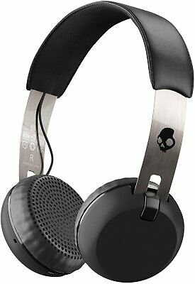 Skullcandy On-Ear Headphones Grind Bluetooth Wireless, Black/Chrome (S5GBW-J539)