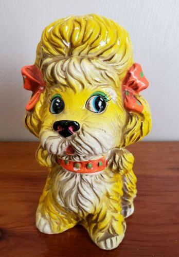 Vintage Coin Bank Fair Prize Poodle Neon Plaster Chalk