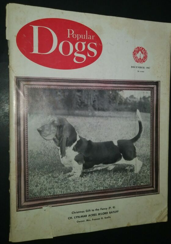 Popular Dogs Illustrated Magazine Champion Bassett Hound Cover Photos Dec. 1967