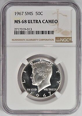 Click now to see the BUY IT NOW Price! 1967 SMS KENNEDY MS68ULTRACAMEO SUPER STUNNER SP68DCAM    013
