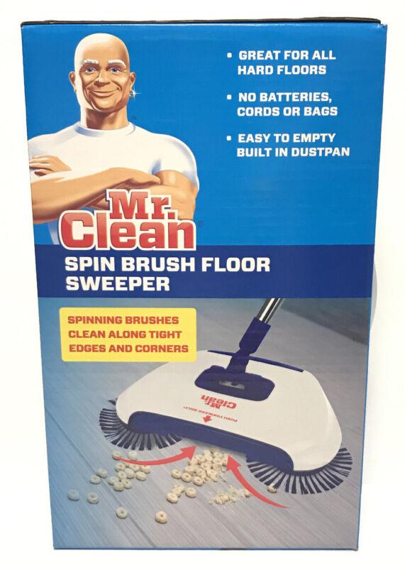 Mr Clean Spin Brush Floor Sweeper / Hard Floors / No Batteries Cords or Bags