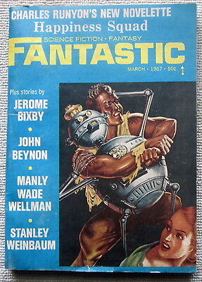 FANTASTIC March 1967 Battle in the Dawn by Manly Wade Wellman (Dawn Wade)