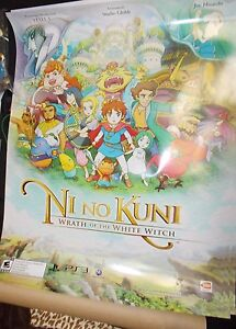 Ni No Kuni Wrath of the White Witch Promo Poster PS3