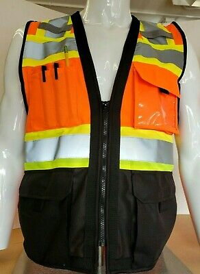 Surveyor Two Tone Safety Vest Ansi Isea 107-2015 Approved Small To 5xl