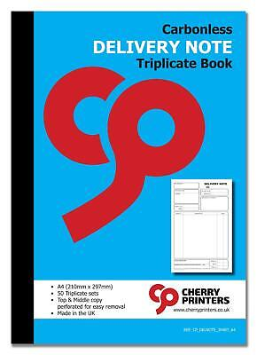 Cherry NCR Delivery Note Triplicate Book A4 (210mm x 297mm) 50 sets  Delivery Note Set