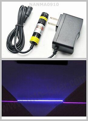 1668 Focusable 100mw 405nm Violetblue Line Laser Diode Module W 5v Adapter