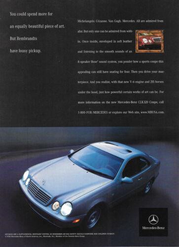 1998 Mercedes Benz CLK320 Magazine Print Ad