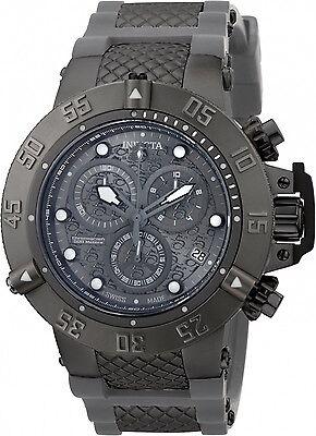 90116 Invicta 50mm Subaqua Noma III Swiss Chrono Black Charcoal Dial Strap  Watch 321c16ea3db