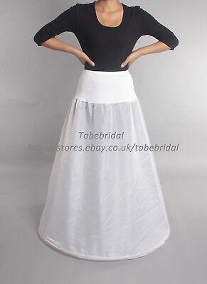 A Line Lycra Waist One Hoop Underskirt Crinoline Prom Wedding Petticoat Bridal for sale  United Kingdom