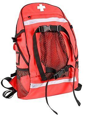Ems Medic Trauma Backpack Gear Bag - Red First Aid Ambulance Emergency Back Pack