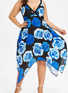 New!!!! Blue rose handkerchief dress