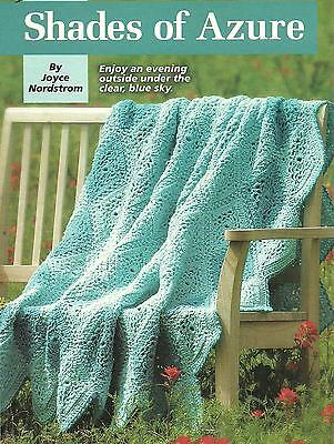 *Shades of Azure Afghan crochet PATTERN INSTRUCTIONS Hooked On Crochet
