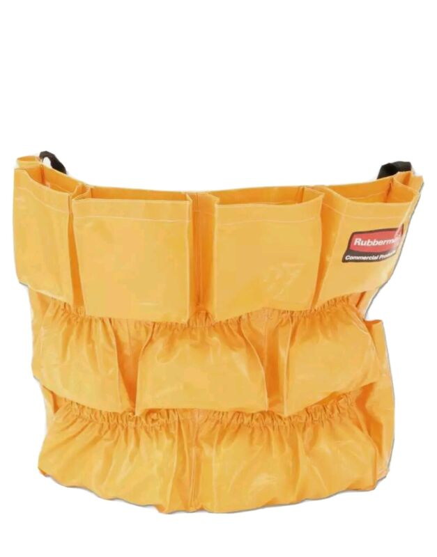 Rubbermaid® Commercial Brute Caddy Bag, 12 Pockets, Yellow 086876015621