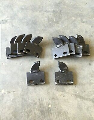 10 Trencher Carbide Shark Combo Teeth Bobcat Lowe Bradco Toro Barreto Case Astec