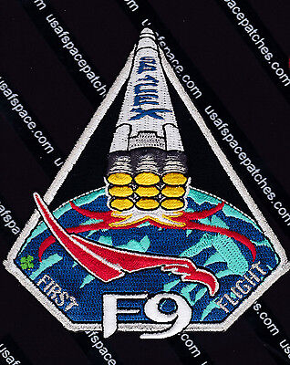 Spacex F 9 Original  Falcon 9  Launch   First Flight   Space Mission Patch