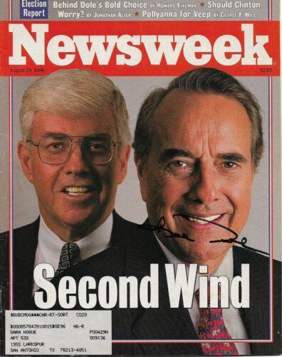Bob Dole Signed Newsweek August 19, 1996