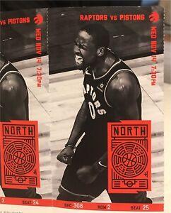 Raptors Tickets vs Detroit Pistons Nov 14th (2) Sec 308 Row 2