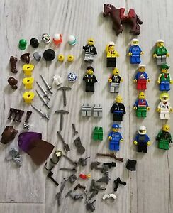 Vintage Lego Mini Figure Lot and Accessories