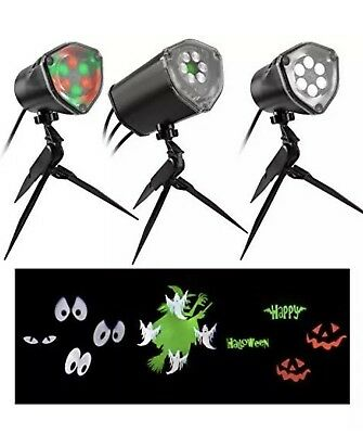 Gemmy 3-Light LED Synchronized Musical Outdoor Halloween Lightshow Holiday Decor - Halloween Musical Light Show