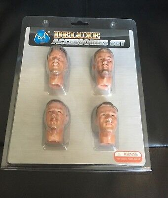 - DID Deluxe Accessories Set of 4 1/6 Scale Head Sculpts for 12