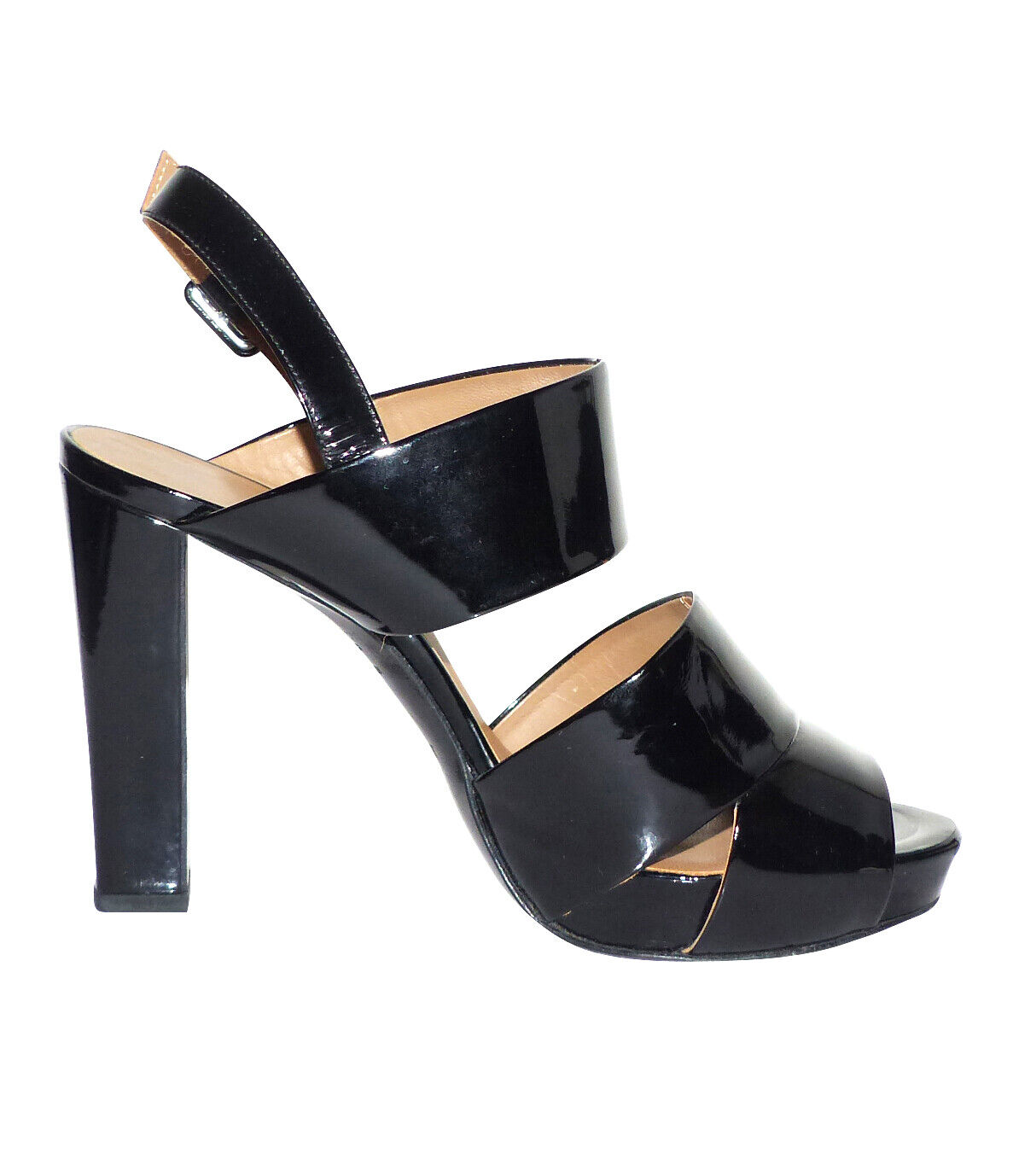 Hermes - sandales attraction en cuir verni noir - hermes sandals