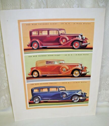 Large Antique Advertisment for Packard Cars