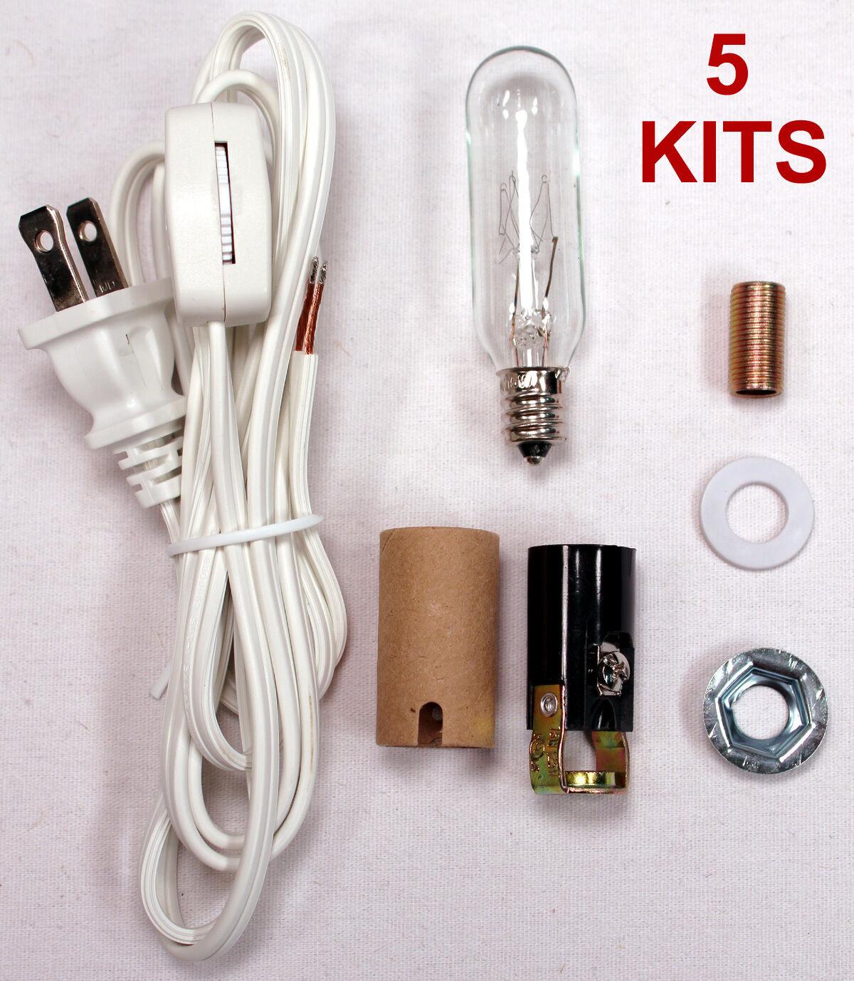 Lot of 5 – Medium Christmas Tree Wiring Kit ML2-25B6, 25 Watt Lamp Lighting Kit Collectibles