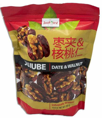 The Snak Yard Jujube- Date & Walnut Clusters- Individually Wrapped for Freshness