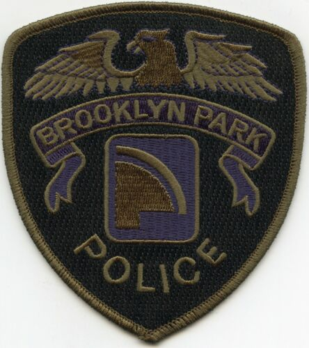BROOKLYN PARK MINNESOTA MN subdued POLICE PATCH