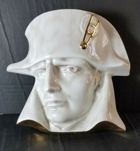 RARE Vintage Limoges France Marked Porcelain Napoleon Wall Sculpture High Relief