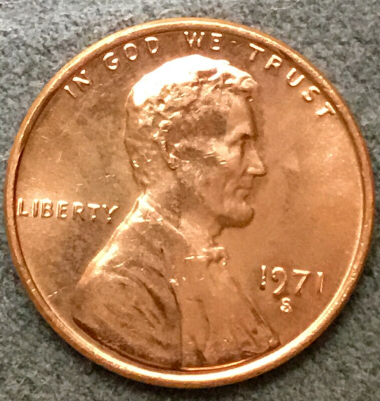 *1971 S* Uncirculated BU Red Lincoln Memorial Cent *Free Ship*