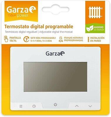 Garza Power, Termostato Digital Programable para Caldera y Calefacción, Controla