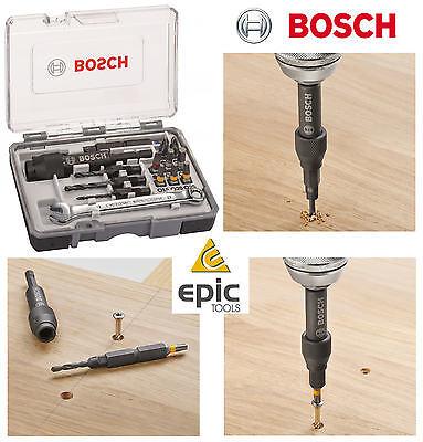 BOSCH Flip Drive HSS Countersink, Pilot Drill & Screwdriver Bit Set, 2607002786