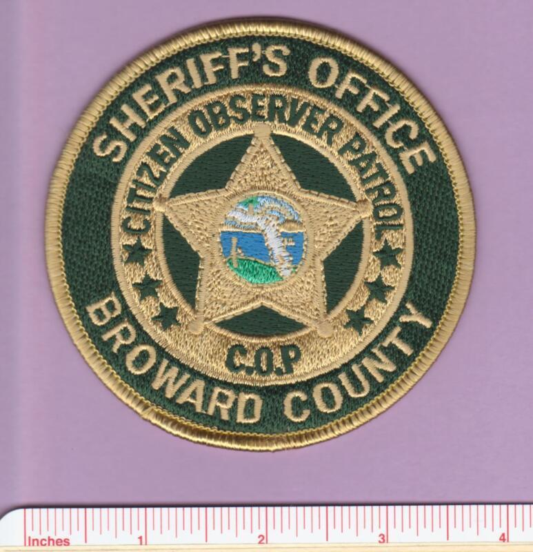 Broward Sheriff FL State of Florida Fla Citizen Observer Patrol COP Police Patch