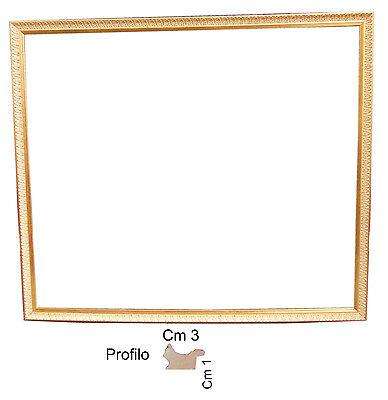 Cornice in oro per quadri art 252 spessore front. cm 3 -Cornici per foto/ Poster