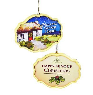 Irish Cottage Christmas Ornament (57507) 3.5x 3