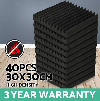 40 x Sound Stop Absorption Treatment Proofing Acoustic Foam NEW