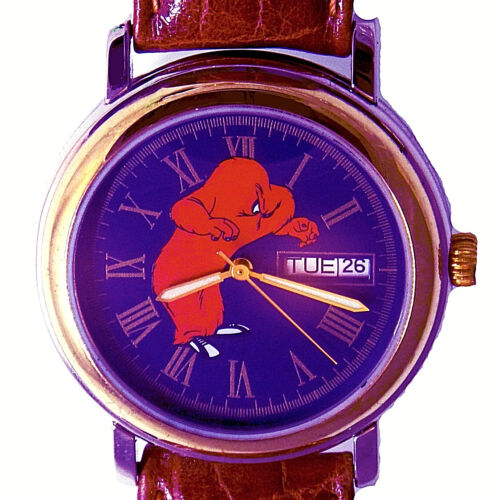 Gossamer Day And Date Fossil Made Warner Bros Leather Band Collectible Watch $89